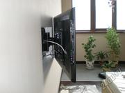 Настройка телевизора, установка/монтаж кронштейна на стену