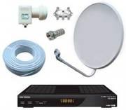 СПУТНИКОВОЕ ТВ без.абон.платы - установка,  настройка спутниковых антен